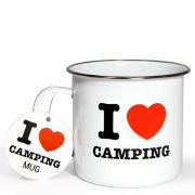 I Heart Camping Enamel Mug