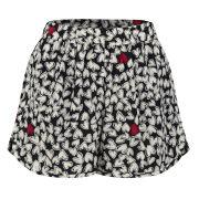 Sonia by Sonia Rykiel Women's Silk Print Mini Shorts - Black/Cream