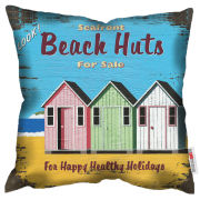 Martin Wiscombe Beach Huts Cushion
