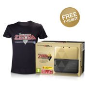 Nintendo 3DS XL The Legend of Zelda: A Link Between Worlds Limited Edition + FREE T-Shirt (Medium - Black)