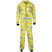 Homer Simpson Men's Printed Onesie - Yellow