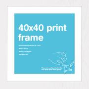 White Frame 40 x 40cm Print