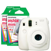 Fujifilm Instax Mini 8 Instant Photo Camera Bundle with 40 Photo Film Pack - White