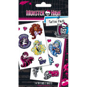 Monster High Scream Team Tattoo Pack 10 x 17cm