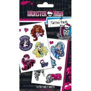 Monster High Scream Team Tattoo Pack 10 x 17cm