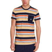 Mas-if Men's Trub Stripe T-Shirt - Navy