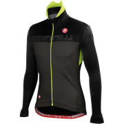 Castelli Poggio Jacket - Black/Anthracite/Fluorescent Yellow