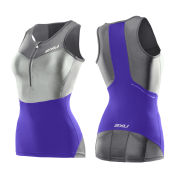 2XU Women's G:2 Compression Triathlon Singlet - Purple Hue/Charcoal
