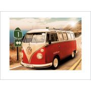 VW Californian Camper Route One - 60 x 80cm Print