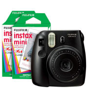 Fujifilm Instax Mini 8 Instant Photo Camera Bundle with 40 Photo Film Pack - Black