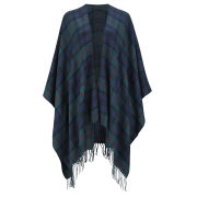 ONLY Women's Cathrine Check Poncho - Ponderosa Pine