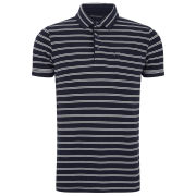 French Connection Men's FC Marlon Polo Shirt - Marine Blue/Cuba White