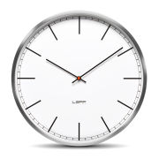LEFF Amsterdam One 55cm Wall Clock - Stainless Steel White Index