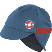 Castelli Unisex Risvolto Winter Cap - Moonlight Blue/Red