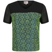 Neon Rose Women's Jacquard Top - Jewel