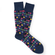 Paul Smith Accessories Men's Multi Polka Dot Socks - Navy