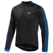 adidas Response Long Sleeve Jersey - Black/Solar Blue