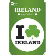 Ireland I Love - Vinyl Sticker - 10 x 15cm