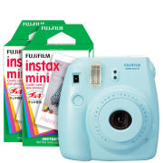 Fujifilm Instax Mini 8 Instant Photo Camera Bundle with 40 Photo Film Pack - Blue