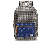 Herschel Settlement Front Zip Pocket Backpack - Houndstooth/Navy Polka Dot