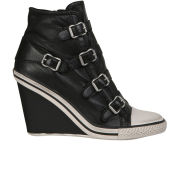 Ash Women's Thelma Leather Wedged Trainers - Black - 3