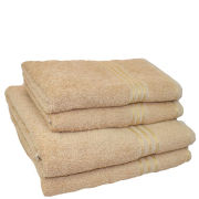 Restmor 100% Egyptian Cotton 4 Piece Supreme Towel Bale Set - Latte