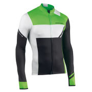 Northwave Men's Extreme Graphic Long Sleeve Jersey - Black/Fluorescent Green