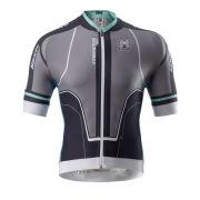 Santini Interactive Aero Short Sleeve Jersey - Titanium Grey