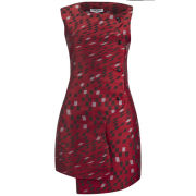Opening Ceremony Women's Mirrorball Snap Print Going Out Dress - Burnt Red Multi
