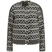 Maison Scotch Women's Jacquard Mixed Pattern Jacket - Multi