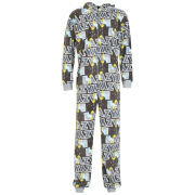 Homer Simpson Men's Lazy Printed Onesie - Black