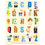 Disney Alphabet - Mini Poster - 40 x 50cm