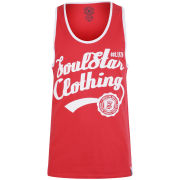 Soul Star Men's Vivid Vest - Red/White