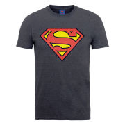 DC Comics Men's T-Shirt - Superman Shield - Dark Heather