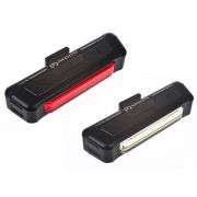 Moon Comet USB Front & Rear Light Set Black