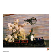 Wallace and Gromit Fine Art Print - The Chase