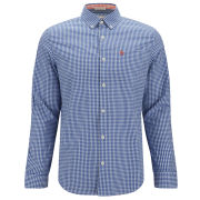 Original Penguin Men's Long Sleeve Gingham Shirt - Turkish Seas