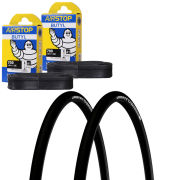 Michelin Pro 4 Endurance Clincher Road Tyre Twin Pack with 2 Free Tubes - Black 700c x 25mm