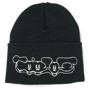 Disney and Wood Wood Men's Jim Knitted Beanie with Mickey Print - Black