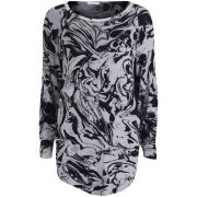 Draw In Light Women's Marble T-Shirt - Bleach On Black