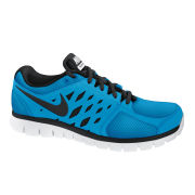Nike Men's Flex 2013 Running Shoes - Silver/Blue