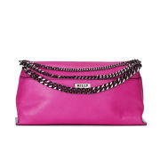 MILLY Collins Collection Chain Clutch Bag - Fuschia