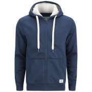 Jack and Jones Men's Marvin Fleece Lined Hooded Sweat - Dress Blue