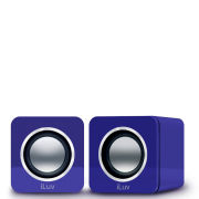 iLuv USB Stereo Speakers for PC and Laptop - Purple