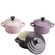 Le Creuset Set of 3 Mini Casserole Dishes - Glamour Pink, Mauve and Dark Purple