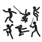 Stickmen Action Stickers