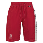 Crosshatch Men's Oplents Swim Shorts - Red