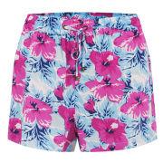 Vero Moda Women's Easy Floral Shorts - Fuchsia