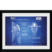 Star Wars Slave I Blueprint - 30x40 Collector Prints