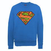 DC Comics Sweatshirt - Superman Wild Logo - Royal Blue
